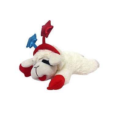 Multipet Patriotic Lamb Chop Dog Toy