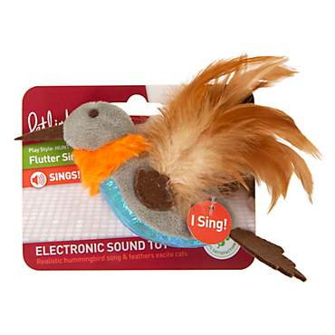 Petlinks Flutter Singer Hummingbird Electronic Sound Cat Toy