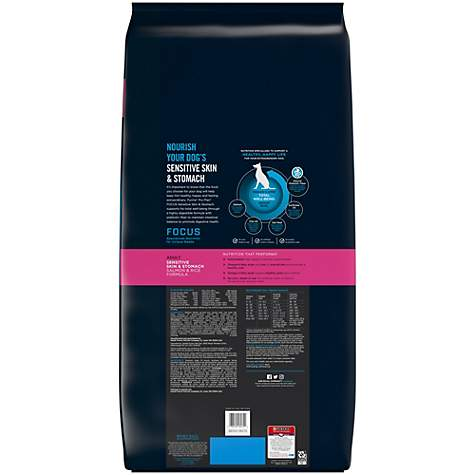 Purina Pro Plan Focus Sensitive Skin & Stomach Salmon & Rice Formula Adult  Dry Dog Food, 41 lbs