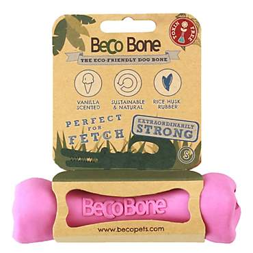 Beco Pet Rubber Bone Pink Dog Toy