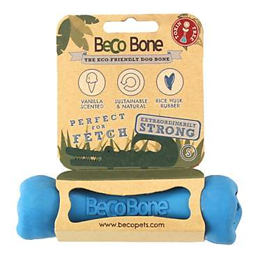 Beco Pet Rubber Bone Blue Dog Toy