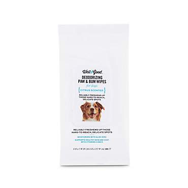 Well & Good Deodorizing Paw and Bum Dog Wipes