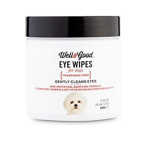 Well & Good Dog Eye Wipes, Pack of 100