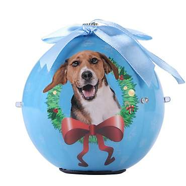 CueCuePet Beagle Dog Collection Twinkling Lights Christmas Ball Ornament