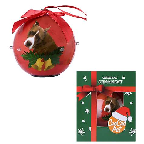 Pitbull Christmas Ornament.Cuecuepet Pitbull Dog Collection Twinkling Lights Christmas Ball Ornament Medium