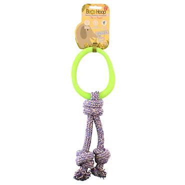Beco Pet Hoop on a Rope Green Dog Toy