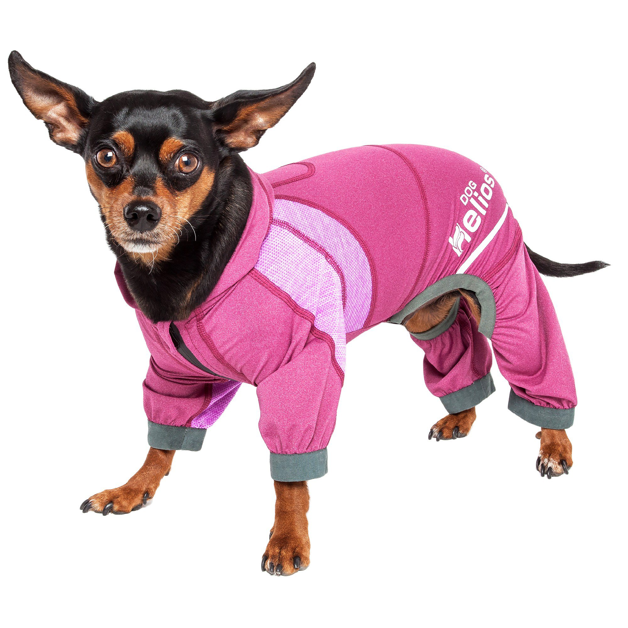 Dog Helios Namastail Lightweight Pink Dog Hoodie Tracksuit, Small
