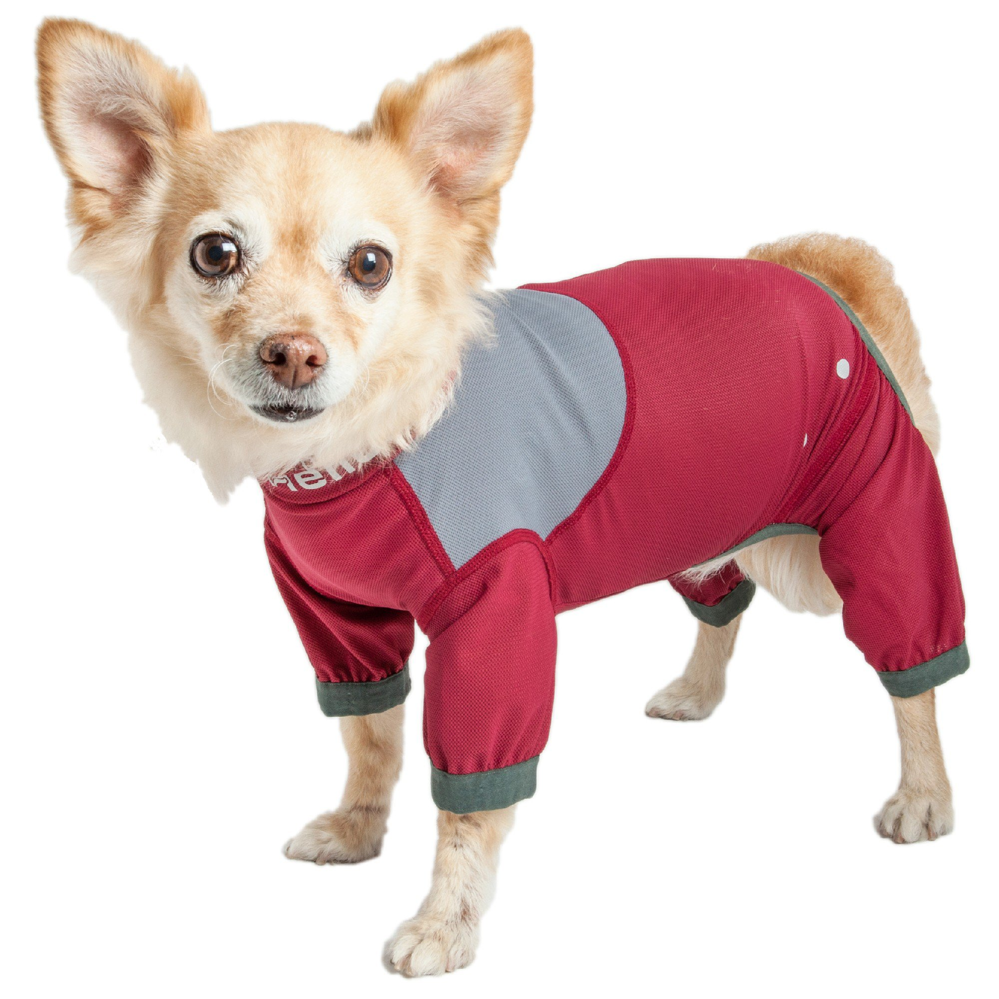 Dog Helios Tail Runner Lightweight Red Dog Track Suit, Large