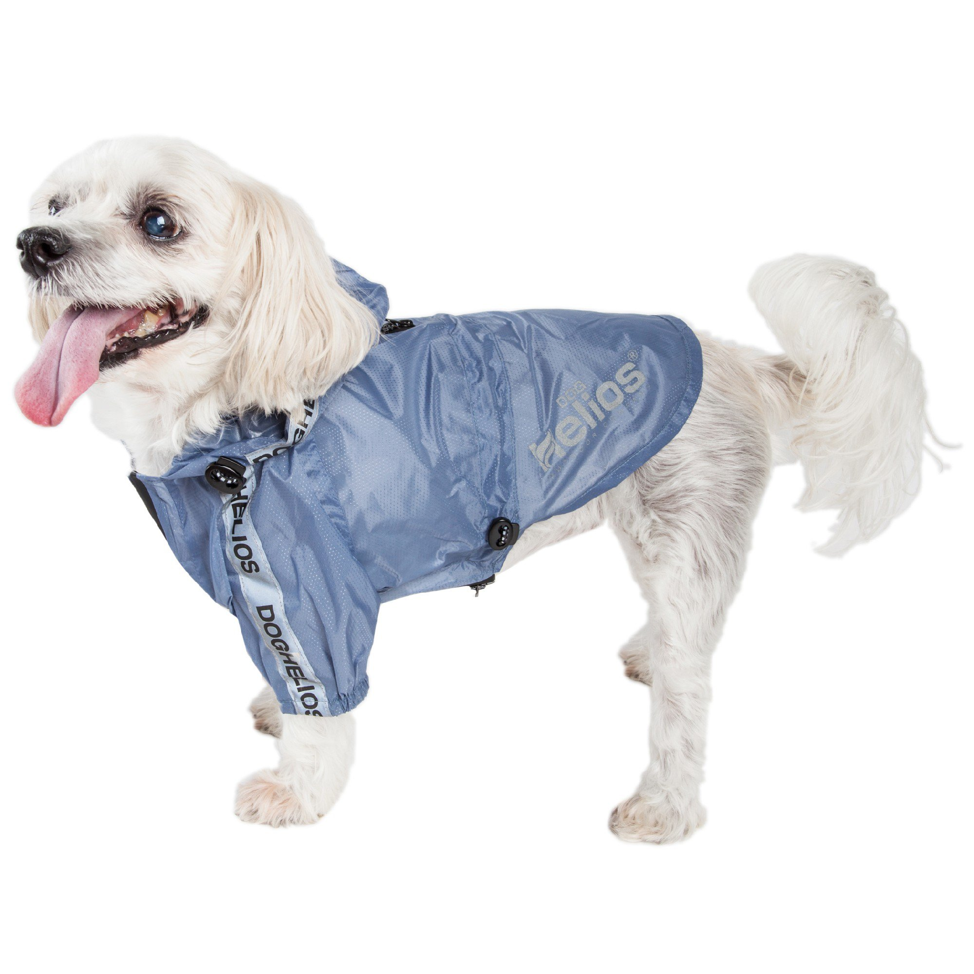 Dog Helios Torrential Shield Waterproof Blue Dog Windbreaker Raincoat, Medium