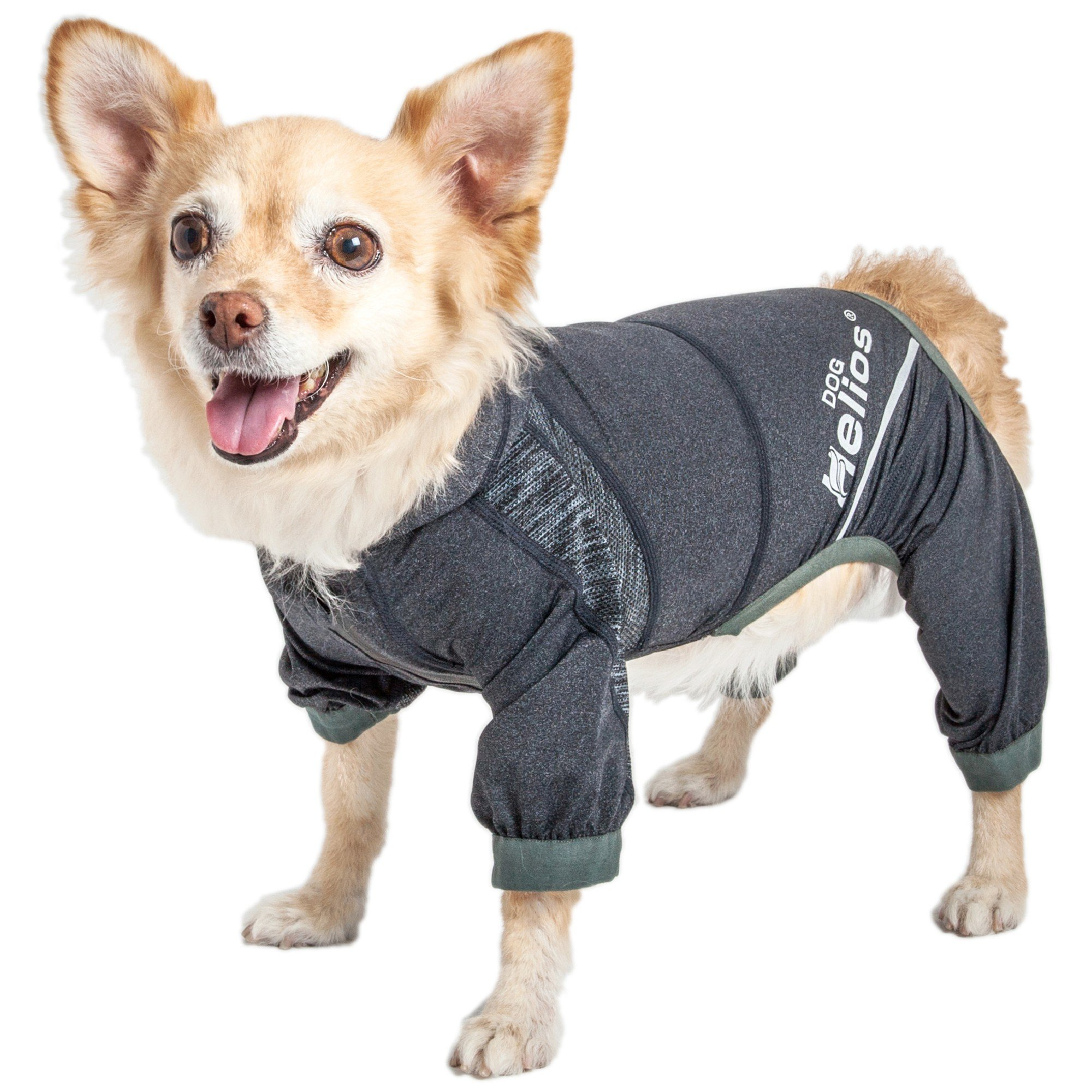 Dog Helios Namastail Lightweight Black Dog Hoodie Tracksuit, Medium