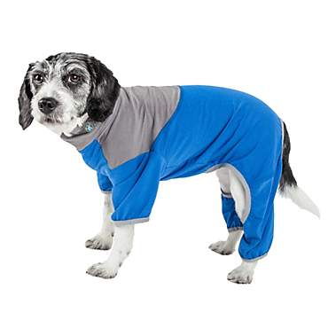 Pet Life Active Embarker Full Body Warm Up Blue Dog Sweaters