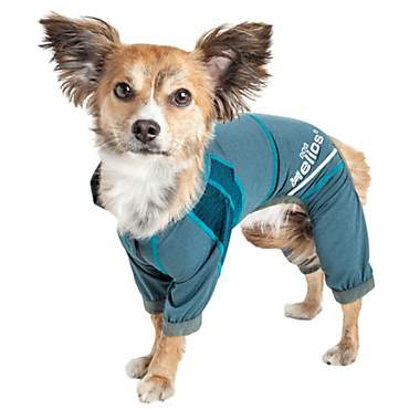 Dog Helios Namastail Lightweight Teal Dog Hoodie Tracksuit