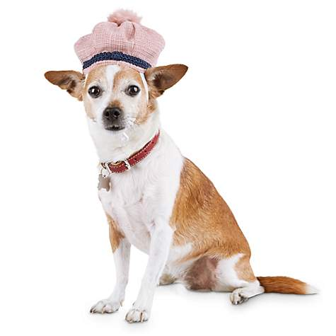 814d25888696c Modern Luxe Collection Pink Tweed Pom-Pom Dog Hat, X-Small/Small