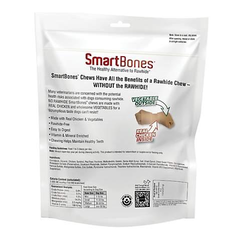 SmartBones Small Bones Vegetable & Chicken No-Rawhide Dog Chews, 11 oz , 6  Count