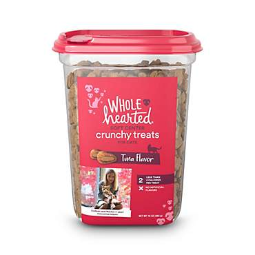 WholeHearted Soft Center Crunchy Tuna Flavor Treats for Cats
