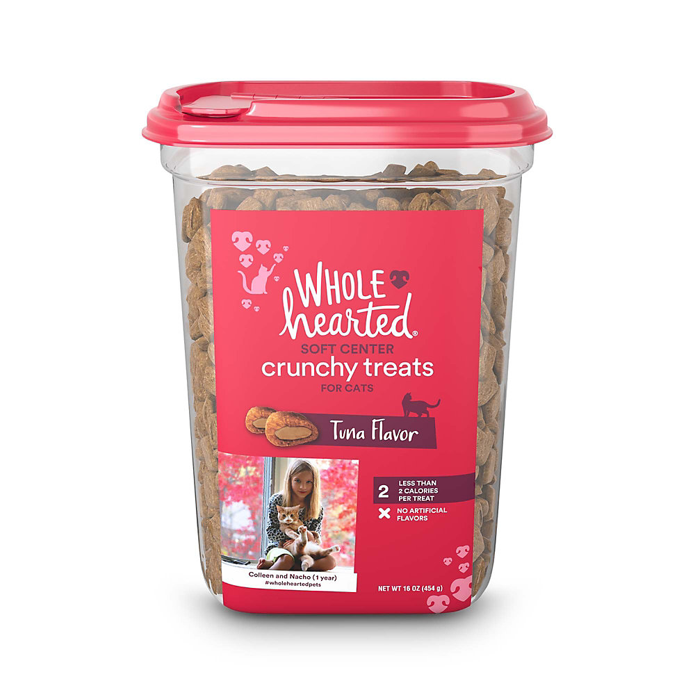 WholeHearted Soft Center Crunchy Tuna Flavor Treats for Cats, 16 oz.