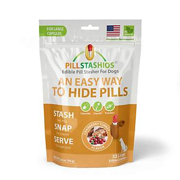 PillStashios Large Cranberry Turkey Treats for Dogs