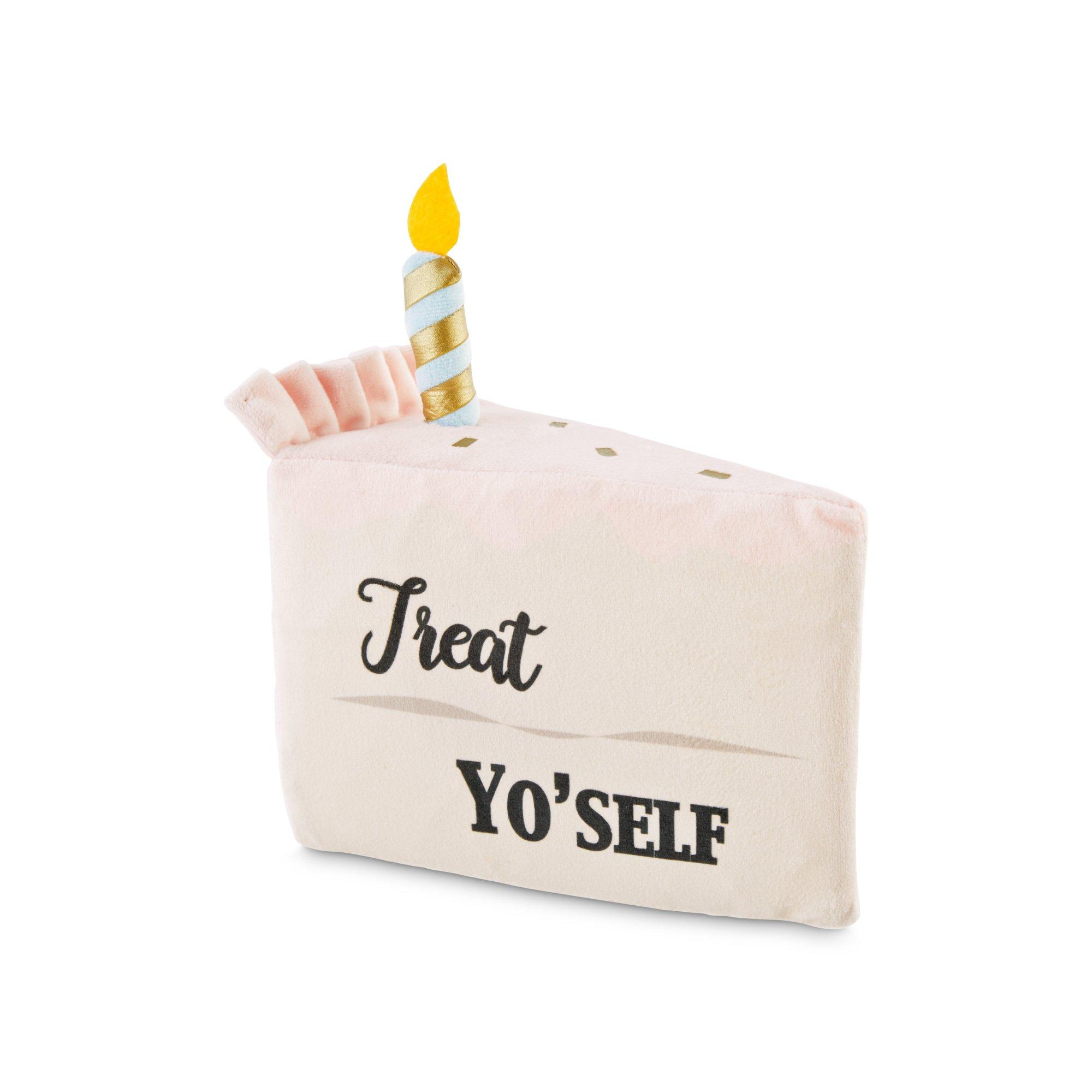 Birthday Slice Plush Dog Toy Medium