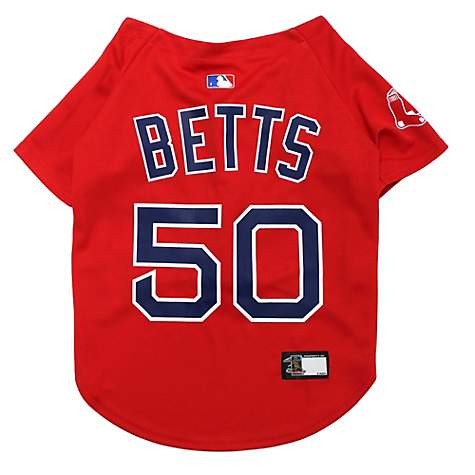 huge selection of 70196 fe106 Pets First Boston Red Sox Mookie Betts Dog Jersey, X-Small
