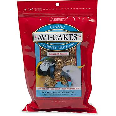 Lafeber's Avi-Cakes Gourmet Bird Food for Macaws & Cockatoos
