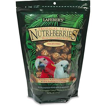 Lafeber's Tropical Fruit Nutri-Berries Dry Food for Macaws and Cockatoos