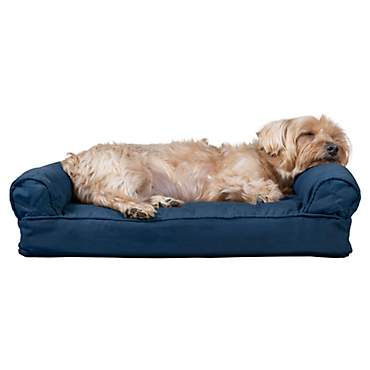 FurHaven Quilted Pillow Sofa Dog Bed Navy