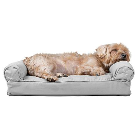 Astounding Furhaven Quilted Pillow Sofa Dog Bed Silver Gray 20 L X 15 W Gmtry Best Dining Table And Chair Ideas Images Gmtryco