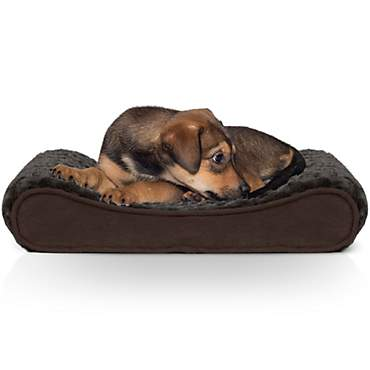 FurHaven Ultra Plush Luxe Lounger Orthopedic Dog Bed Chocolate