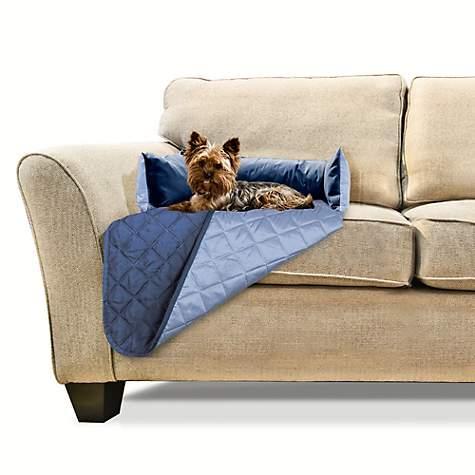 Magnificent Furhaven Sofa Buddy Furniture Cover Dog Bed Navy 18 L X 26 W Machost Co Dining Chair Design Ideas Machostcouk