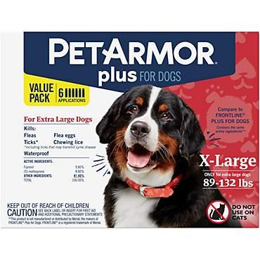 PetArmor Plus F&T Squeeze-On Dog 89-132 lbs.