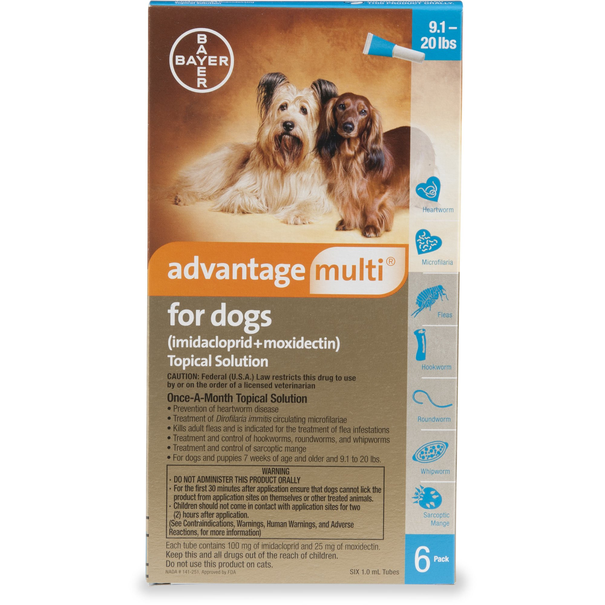 Advantage Multi Topical Solution for Dogs 9 1 to 20 lbs  | Petco