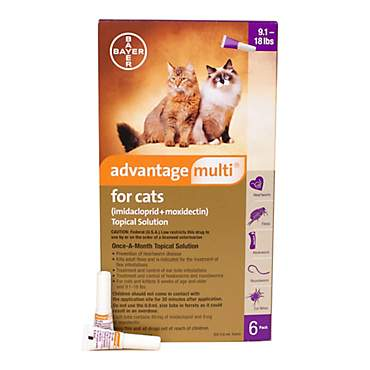 Advantage Multi Topical Solution for Cats 9.1 to 18 lbs.