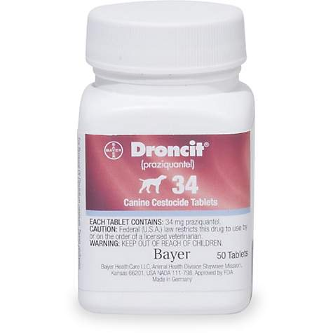 Droncit 34 mg Tablets for Dogs, 6 Count