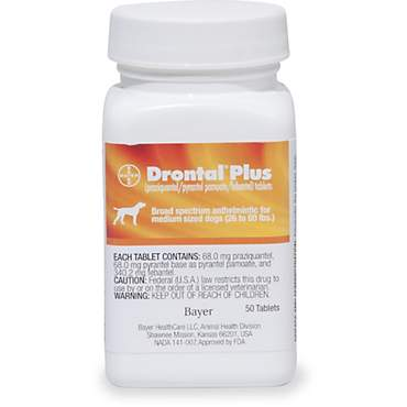 Drontal Plus Tablets for Medium Dogs