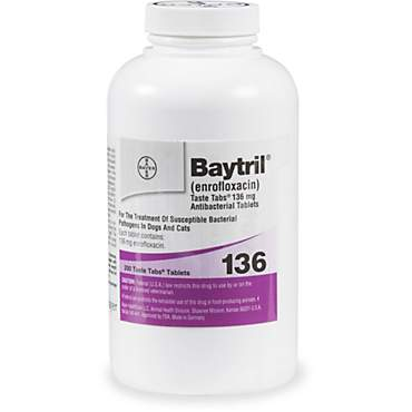 Baytril 136 mg Taste Tab Tablets