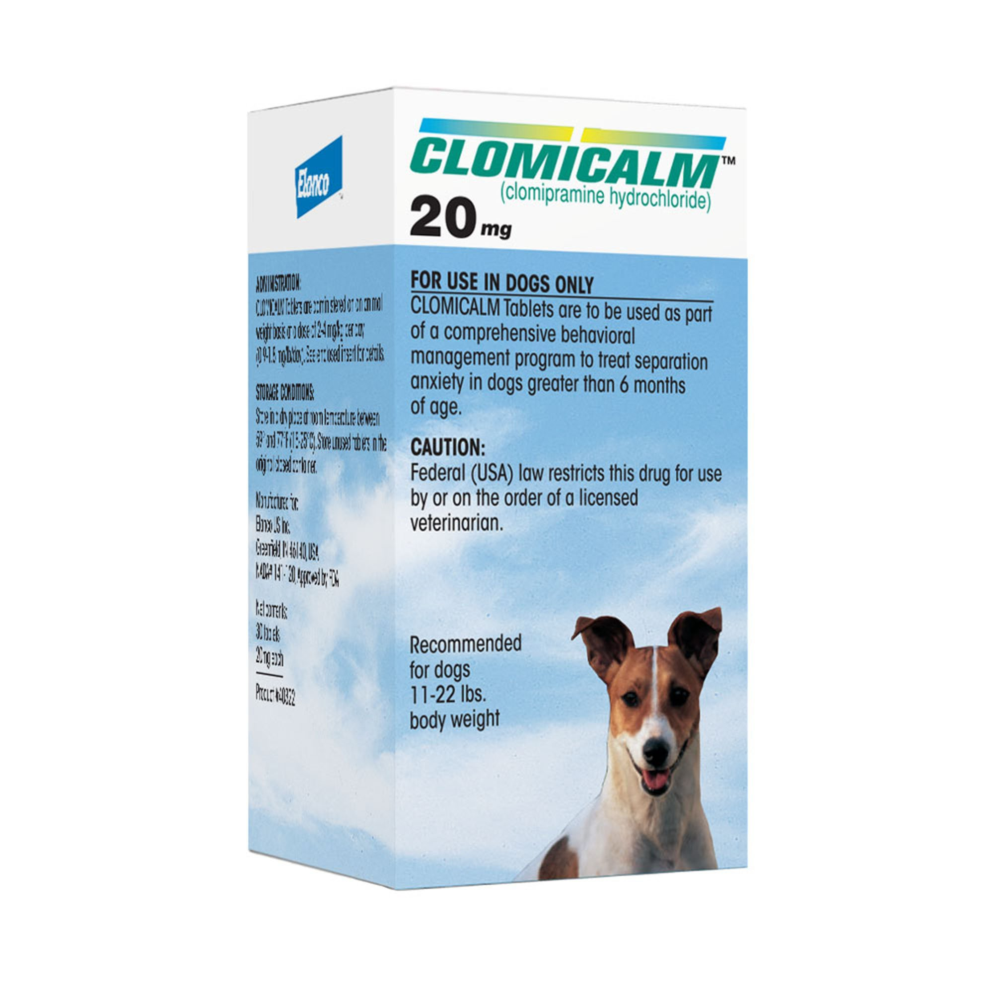 6e9be483ff5ef Clomicalm 20 mg Tablets for Dogs | Petco