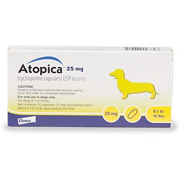 Atopica 25 mg Capsule for Dogs