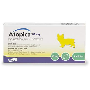 Atopica 10 mg Capsule for Dogs