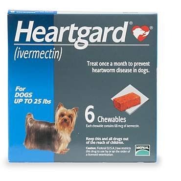 Heartgard Chewables for Dogs 1 to 25 lbs.