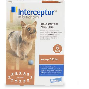 Interceptor Flavor Tabs for Dogs 2 to 10 lbs.
