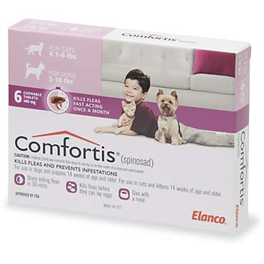 Comfortis Chewables for Dogs 5 to 10 lbs. and Cats 4 to 6 lbs.