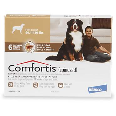Comfortis Chewable Tablets for Dogs 60.1 to 120 lbs.