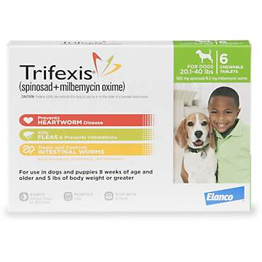 Trifexis Chewable Tablets for Dogs 20.1 to 40 lbs.