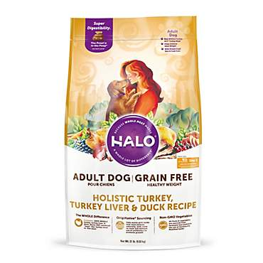 Halo Grain Free Healthy Weight Holistic Turkey, Turkey Liver and Duck Dry Dog Food