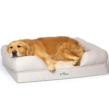 PetFusion Ultimate Sandstone Orthopedic Memory Foam Dog Bed & Lounge