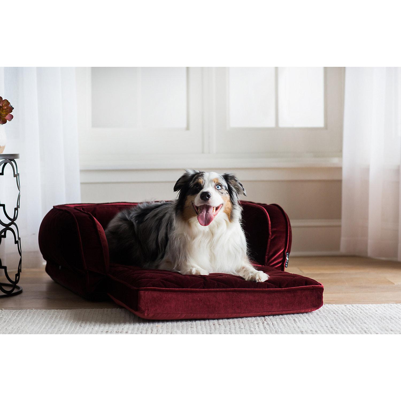 "La Z Boy Duchess Fold Out Merlot Sofa Dog Bed, 38"" L X 29"" W, X Large"