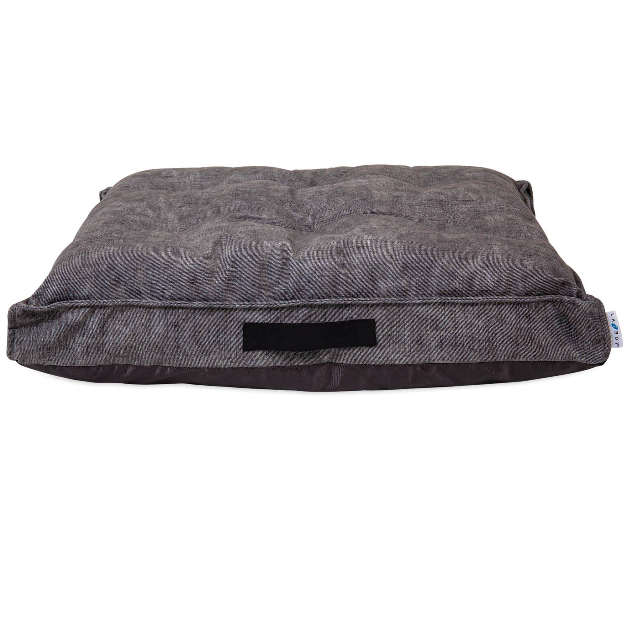 """La Z Boy Cooper Mattress Smoke Dog Bed, 36"""" L X 27"""" W, Large"""