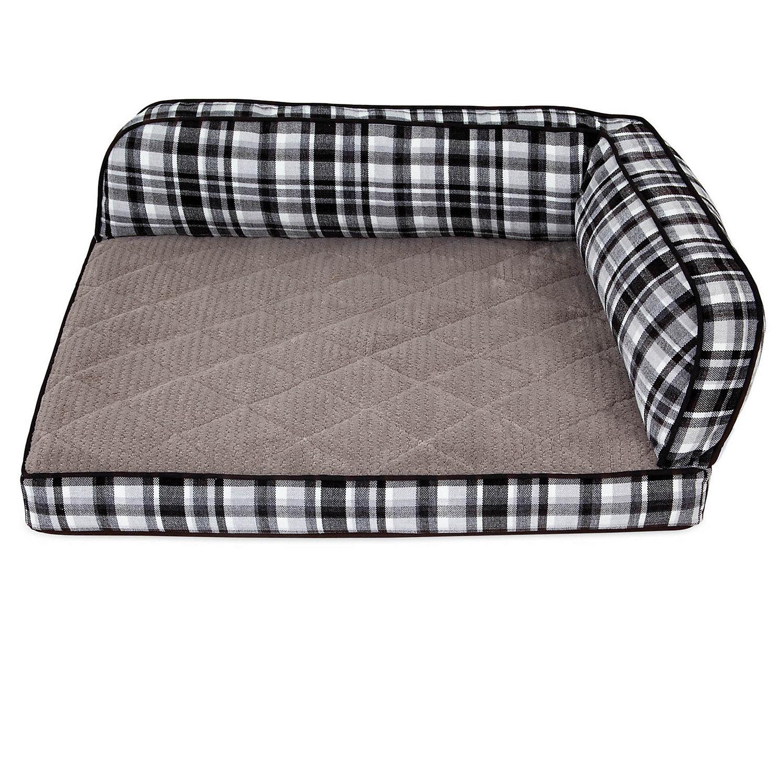 """La Z Boy Sadie Spencer Plaid Sofa Dog Bed, 38"""" L X 29"""" W, X Large"""