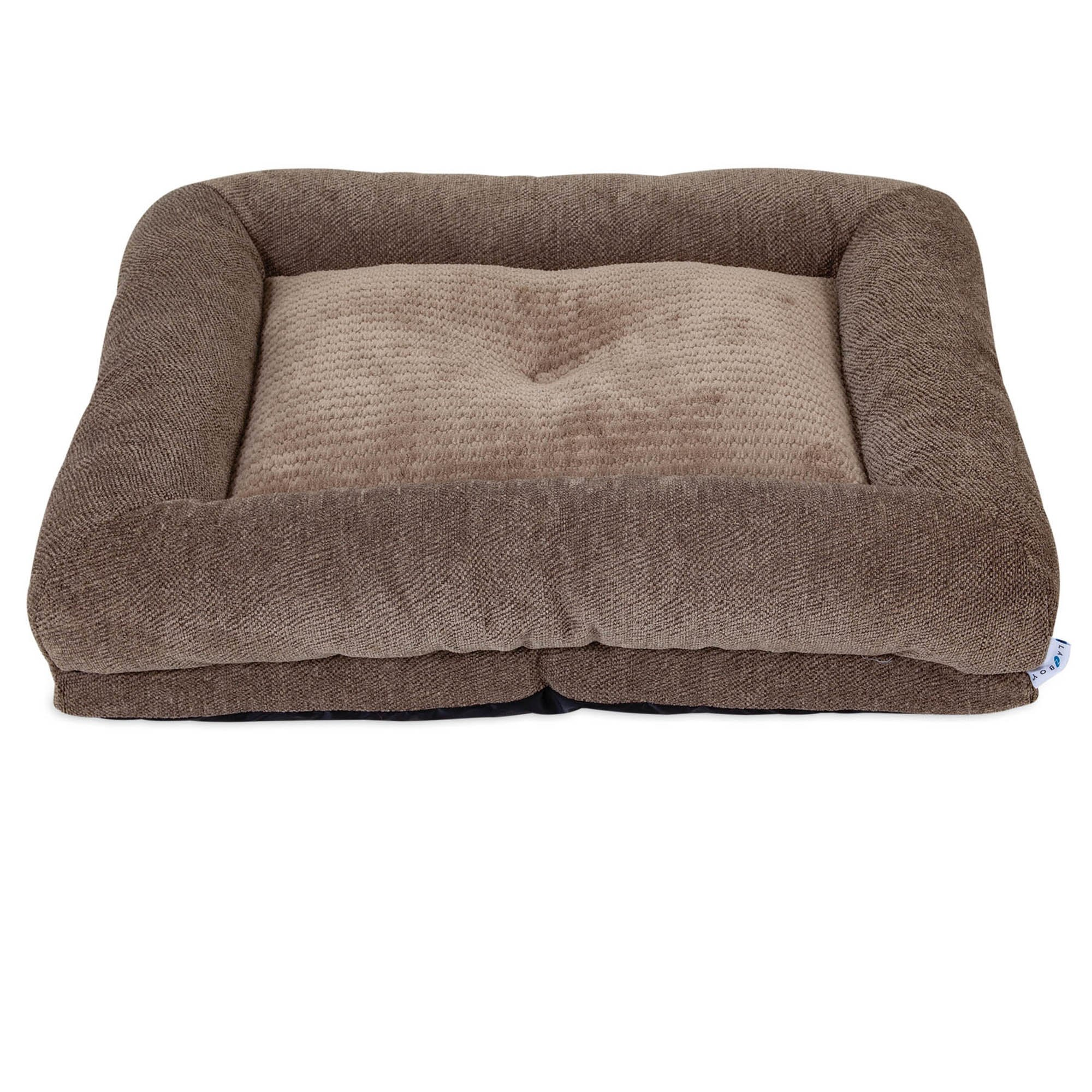 "La Z Boy Rosie Lounger Taupe Dog Bed, 35"" L X 27"" W, Large"