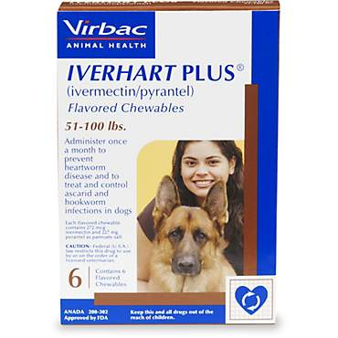 Iverhart Plus Chewable Tablets for Dogs 51-100 lbs.
